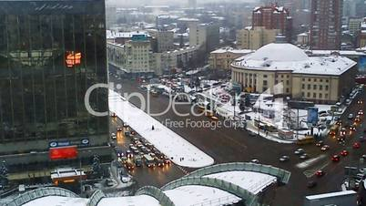 Traffic In Kiev Evening Timelapse