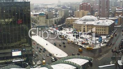Traffic In Kiev First Snow Timelapse