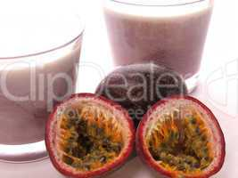 Passion fruit with healthy drinks