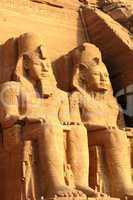 Ramses II statues at Abu Simbel,Egypt