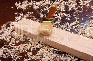 Shavings of wood,