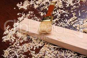 Shavings of wood,