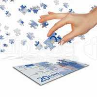 picture of puzzle for a banknote