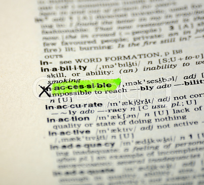 word selection in the dictionary