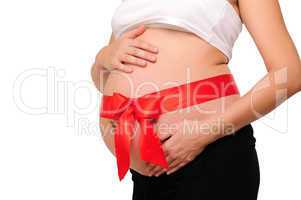 Abdomen a young pregnant woman