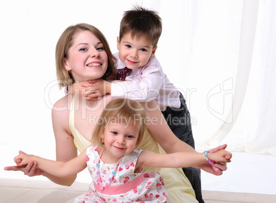 Mom, her son and her little daughter
