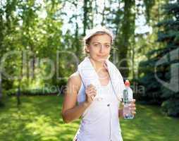 A shot of an active beautiful caucasian woman