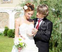 shot young couples entering into marriage