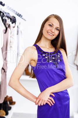 Young woman doing shopping