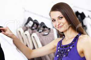 Young woman doing shopping