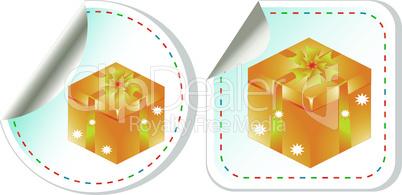vector holiday modern gift box sale design set