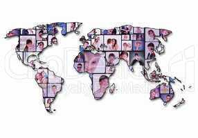 World map background