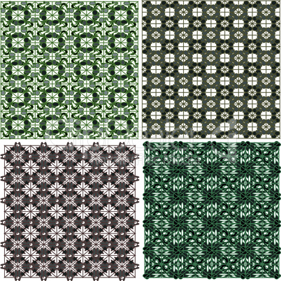 Morocco Seamless Abstract Patterns Background Set