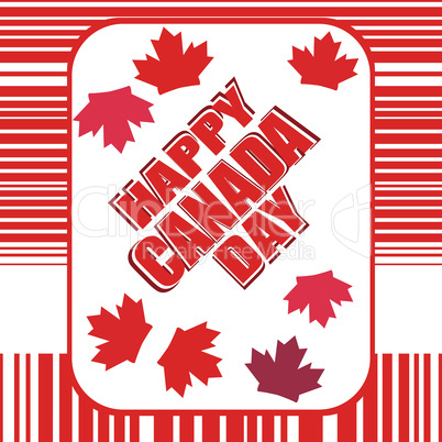 Happy Canada Day card in vector. greeting theme