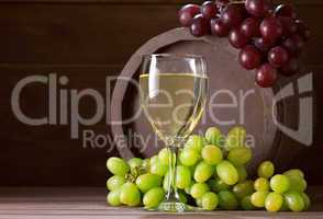 wineglass of vine