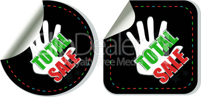 Sale collection stickers set - total sale