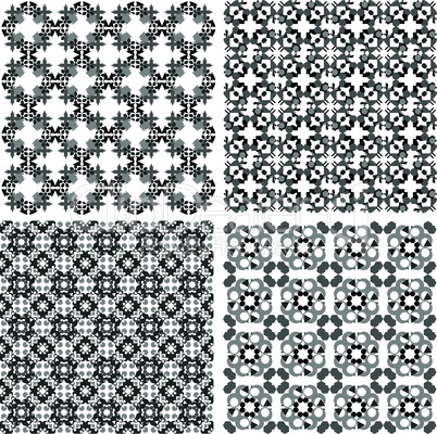 Decorative design elements. Patterns set. Vector art