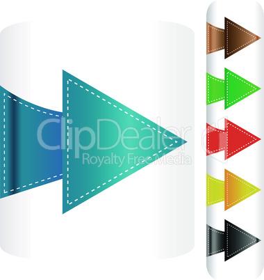 Vector set of arrows - stickers label tag