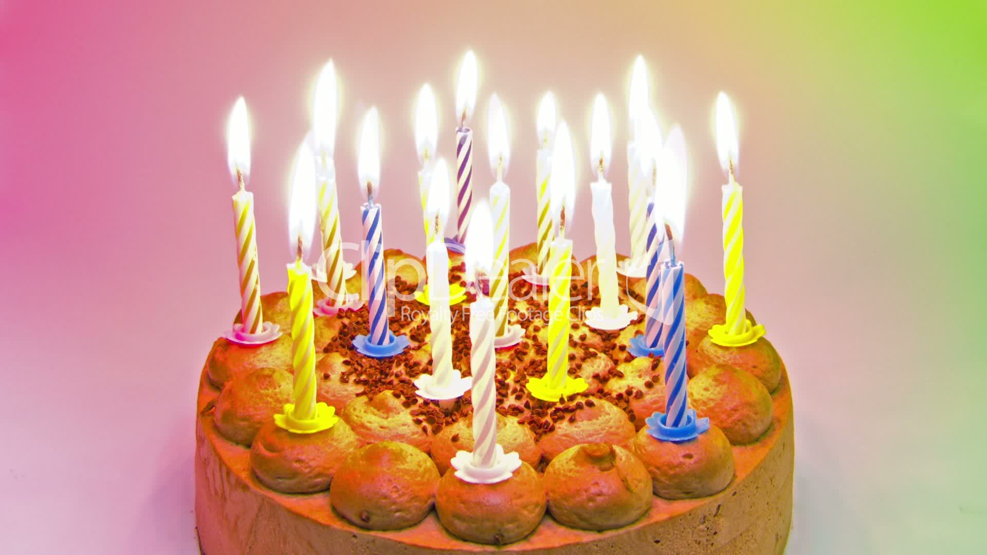 Birthday Cake 18 Happy Birthday Candle Timelapse Videos Et Clips