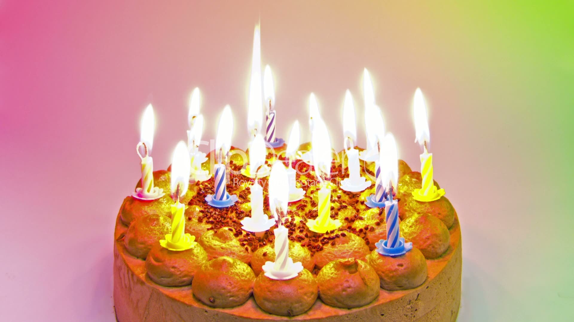 Birthday Cake 18 Quot Happy Birthday Quot Candle Timelapse