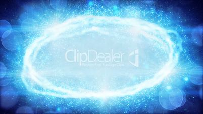 blue oval light and particles loop background