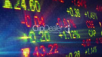 stock exchange data board loop
