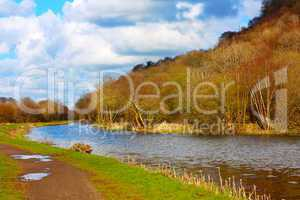 Forth and Clyde Canal in Springtime, Scotland