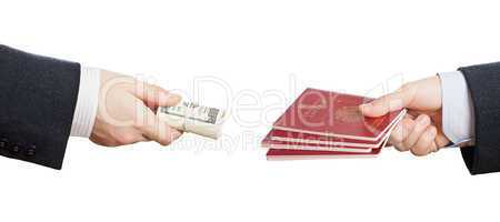 Buying fake or forged passport document