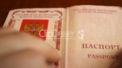 Passport. Passport control at the customs