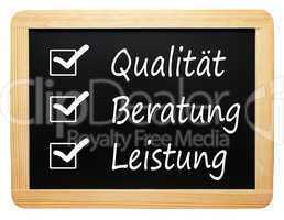 Qualität Beratung Leistung