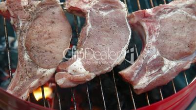 Flame Grilled Pork Steak