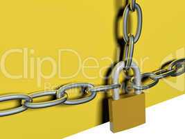 Chain and lock, 3D