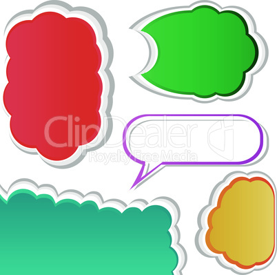 Colorful bubble for speech. Set of vector banners