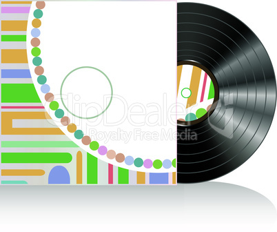 Vinyl disc cover in abstract texture. Vector illustration
