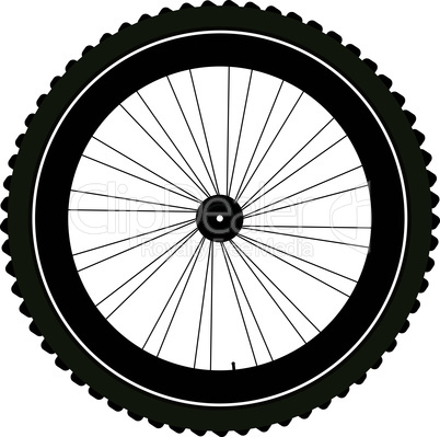 bike wheel with tire and spokes isolated on white background. vector