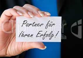 Partner für Ihren Erfolg !