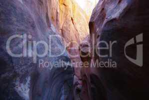 Multicoloured slot canyon, Grand Stair Escalante National Monument, Utah
