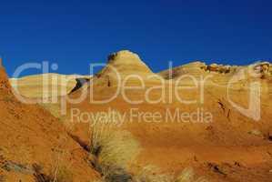 Orange hills and blue sky, Devils Garden, Utah