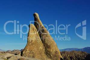 Bizarre Rocks and mountains, Alabama Hills, California