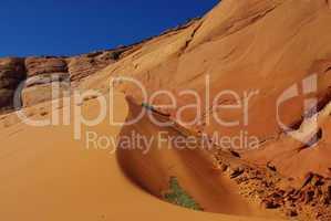 Dune near Peek-a-boo Slot Canyon, Utah