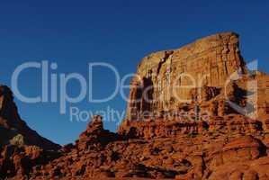 Rock formations and wall near Hurrah Pass, Utah