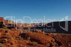 Red rock formations near Hurrah Pass, Moab, Utah