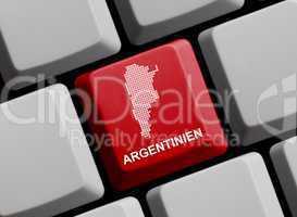 Argentinien - Umriss auf Tastatur