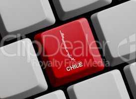 Chile - Umriss auf Tastatur