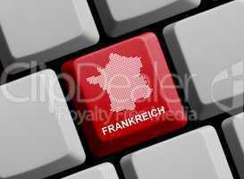 Frankreich - Umriss auf Tastatur