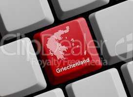 Griechenland - Umriss auf Tastatur
