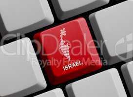 Israel - Umriss auf Tastatur