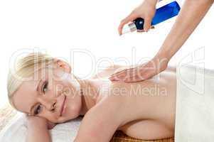 Woman getting extra hydration procedure