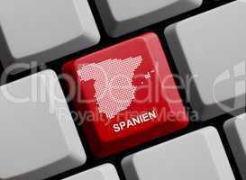 Spanien - Umriss auf Tastatur
