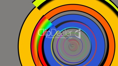 Color rings on a gray background